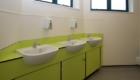 School washrooms vanity unit