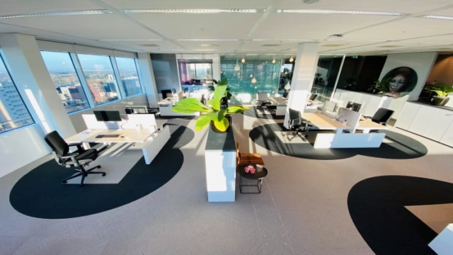 Office interior design social distancing Concept by Cushman and Wakefield