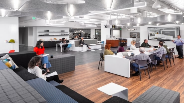 Office interior design space planning concept for Nelsons Worldwide Philidelphia
