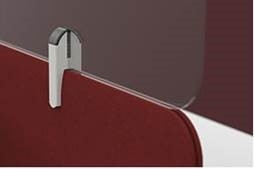 Acrylic desk screen clip on extension to standard desk divider