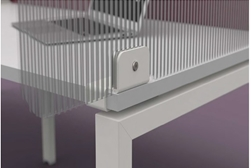 Polycarbonate screens for desks full height